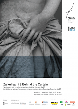 Behind the Curtain. Exhibition of prints of jurors and artists – members of the Board of SMTG