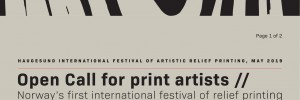 [Take part in] Haugesund International Festival of Artistic Relief Printing